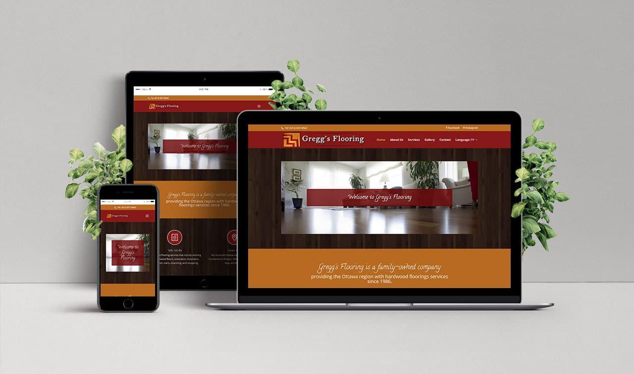 Website For Gregg S Flooring Uc Web Creations