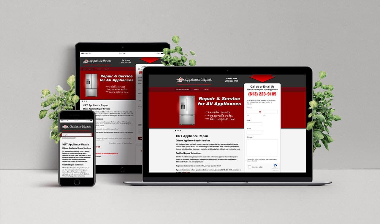 Website for HRT Appliance Repair
