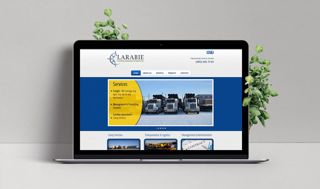 Website for Larabie Inc.