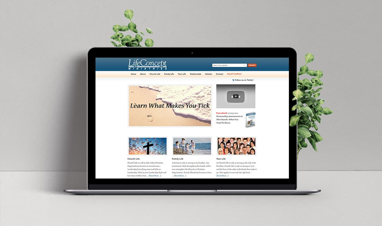 Website for Life Concept Ministries