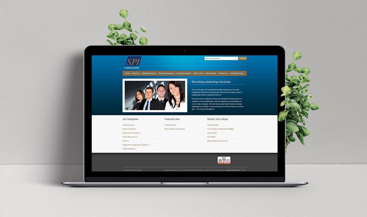 Website for SPI Consultants