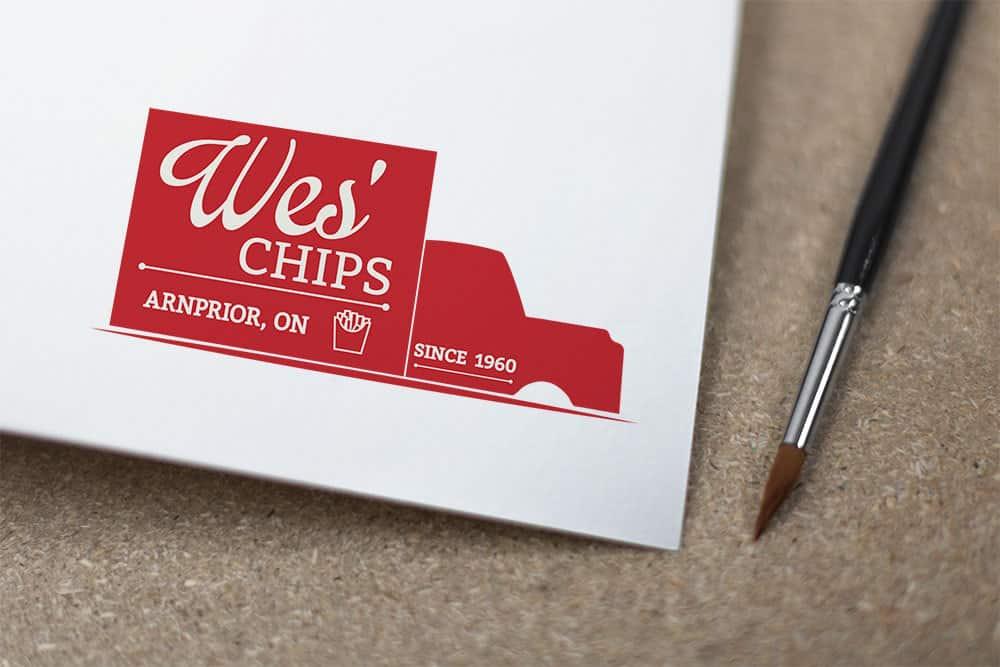 Wes' Chips Logo