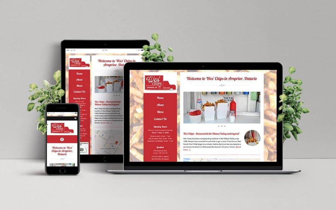 Website for Wes' Chips